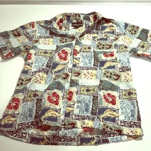 Claiborne Size Boys 8 Button Up Shirt Down ♥️🌈♥️